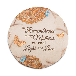 "Remembering Mother  by Light Your Way Memorial - 10"" Garden Stone"