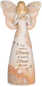 "Friend by Light Your Way Every Day - 7.5"" Angel Holding Butterfly"