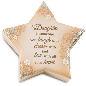 "Daughter by Light Your Way Every Day - 4"" x 3.75"" Star Keepsake Box"
