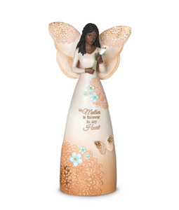 "EBN Mother by Light Your Way Memorial - 9"" Ebony Angel Figuirine"