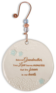 "Beloved Grandmother by Light Your Way Memorial - 3.5"" Ceramic Ornament"