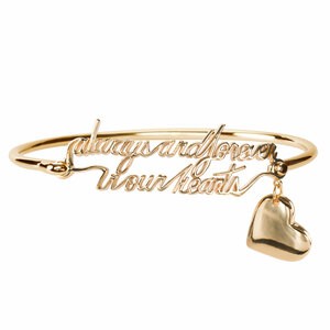 Blank Heart by Light Your Way Memorial - Memorial Bangle Bracelet