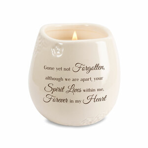 Heart by Light Your Way Memorial - 8 oz - 100% Soy Wax Candle Scent: Tranquility