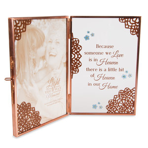 "Heaven by Light Your Way Memorial - 4"" x 6"" Glass Hinged Frame"
