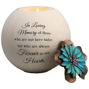 "In Loving Memory by Light Your Way Memorial -  5"" Round Tea Light Candle Holder"