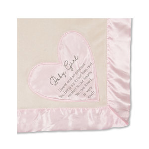 "Baby Girl by Comfort Blanket - 30"" x 40"" Royal Plush Blanket"