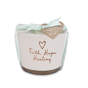 Faith Hope Healing by Comfort Collection - 8 oz - 100% Soy Wax Candle Scent: Tranquility
