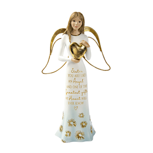 "Sister by Comfort Collection - 7.5"" Angel Holding a Heart"