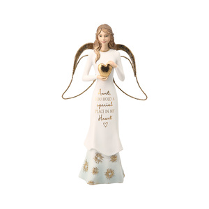 "Aunt by Comfort Collection - 7.5"" Angel Holding a Heart"