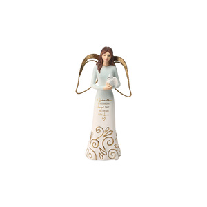 "Godmother by Comfort Collection - 5.5"" Angel Holding a Dove"