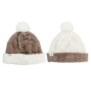 Cozy by Comfort Collection - One Size Fits Most Reversible Sherpa Hat
