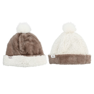Mom by Comfort Collection - One Size Fits Most Reversible Sherpa Hat