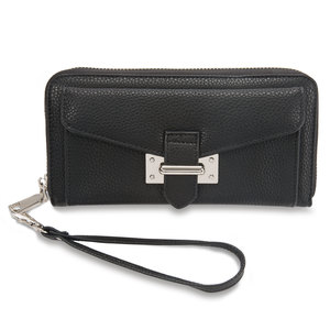 "Madison Noir by H2Z Handbags - 7.5"" x 1.5"" x 4"" Wallet"
