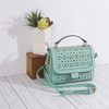 Aqua by H2Z Laser Cut Handbags - Scene2