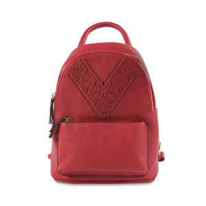 "Crimson Ali by H2Z Laser Cut Handbags - 9"" x 11.5"" Backpack Handbag"