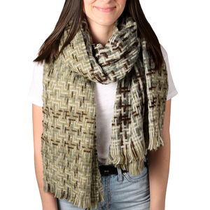 "Soft Pistachio by H2Z Scarves - 78"" x 26"" Woven Scarf"