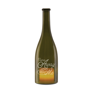 "Come Away with Me by Wine All The Time - 11"" Wine Bottle LED Candle Holder"