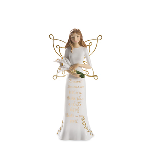"Heaven by Butterfly Whispers - 7.5"" Angel Holding Calla Lilies"