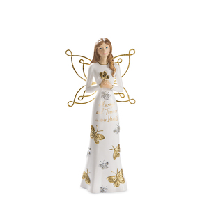"Always and Forever by Butterfly Whispers - 7.5"" Angel Holding a Butterfly"