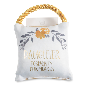 "Daughter by Butterfly Whispers - 4.5"" Memorial Pocket Pillow"