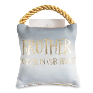 "Brother by Butterfly Whispers - 4.5"" Memorial Pocket Pillow"