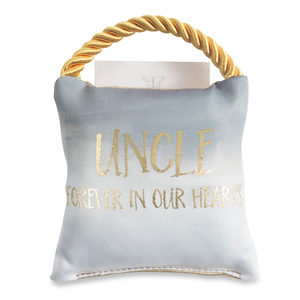 "Uncle by Butterfly Whispers - 4.5"" Memorial Pocket Pillow"