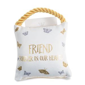 "Friend by Butterfly Whispers - 4.5"" Memorial Pocket Pillow"