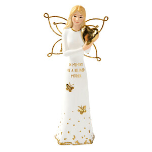 "Beloved Mother by Butterfly Whispers - 5.5"" Angel Holding a Heart"