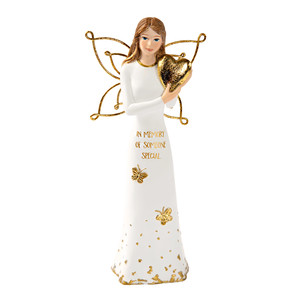 "Someone Special by Butterfly Whispers - 5.5"" Angel Holding a Heart"
