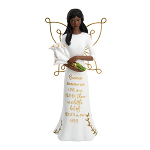 "EBN Heaven by Butterfly Whispers - 7.75"" Angel Holding Calla Lilies"