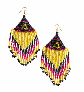 "Party Brights by Tribal Chic Collection - 4"" Beaded Earrings"