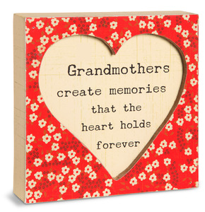 "Grandmothers by Live Simply by Amylee - 4.5"" x 4.5"" Plaque"