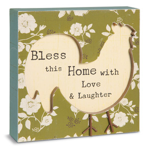 "Bless this Home by Live Simply by Amylee - 4.5"" x 4.5"" Plaque"
