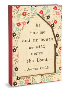 "Serve the Lord by Live Simply by Amylee - 4.5"" x 7"" Plaque"