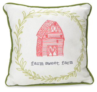 "Farm Sweet Farm by Live Simply by Amylee - 10"" x 10"" Canvas Pillow"