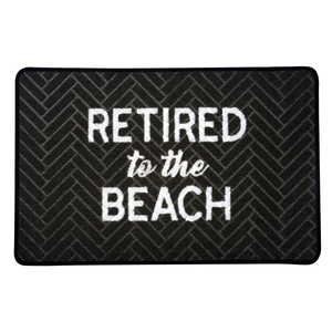 "Beach by Retired Life - 27.5"" x 17.75""   Floor Mat"