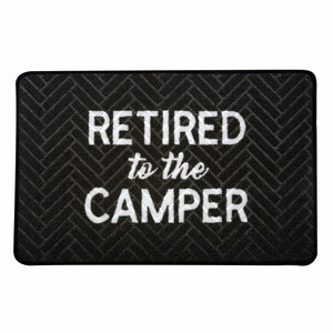 "Camper by Retired Life - 27.5"" x 17.75""   Floor Mat"