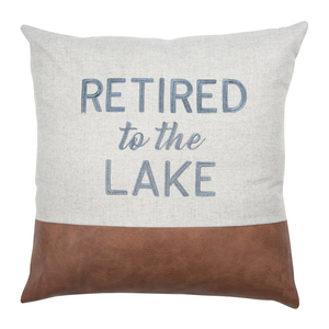 "Lake by Retired Life - 18"" Pillow"