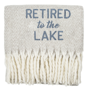 "Lake by Retired Life - 50"" x 60"" Blanket"