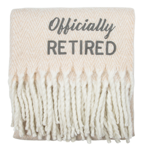 "Officially by Retired Life - 50"" x 60"" Blanket"