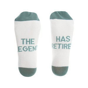 The Legend by Retired Life - S/M Cotton Blend Sock