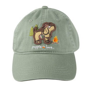 Camping by Puppie Love - Sage Adjustable Hat