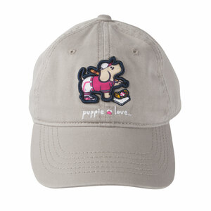 Softball by Puppie Love - Light Gray Adjustable Hat
