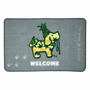 "Welcome by Puppie Love - 27.5"" x 17.75""   Floor Mat"