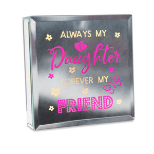 "Always by Reflections of You - 6"" Lit-Mirrored Plaque"