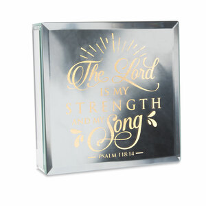 "Strength by Reflections of You - 6"" Lit-Mirrored Plaque"