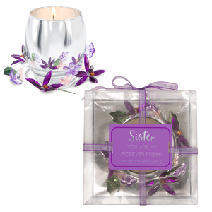 Sister Purple Flower by Reflections of You - 3.5oz 100% Soy Wax Candle Scent: Jasmine