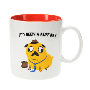 Pug by Fugly Friends - 17 oz Mug