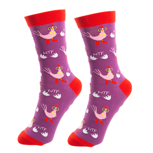 Cluck Off by Fugly Friends - S/M Unisex Cotton Blend Sock