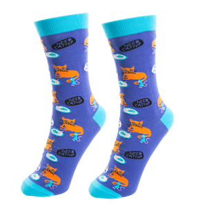 Not Meow-tivated by Fugly Friends - S/M Unisex Cotton Blend Sock